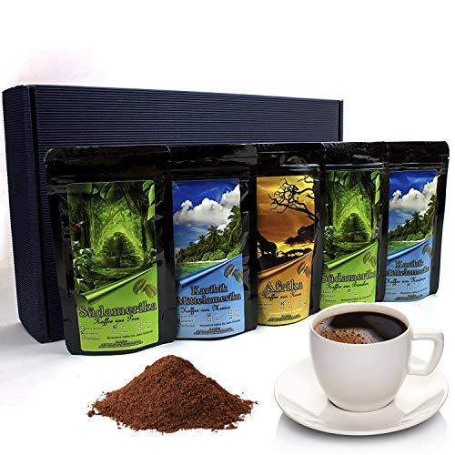 Geschenk Set - Länder Kaffee aus aller Welt - Gemahlener Kaffee im Geschenkkarton , das perfekte...