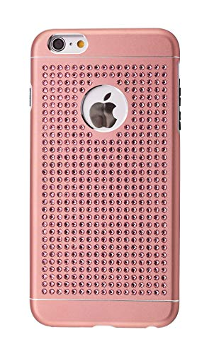 iShield® for iPhone con Crystals from Swarovski (iPhone 6S Plus/6 Plus -483 Pieza Cristales, Rosa)