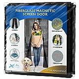 Flux Phenom [Upgraded Version] Fiberglass Magnetic Screen Door - Heavy Duty Mesh Net for Patio and Sliding Doorways