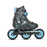 BOOTS - soft shell with velcro cinch strap and lever buckle across the top with built in liner WHEELS- 3X100MM, ABEC-9 bearings, Hardness-85A PU casted high rebound inline wheels. This helps you to get the double push technique which now has been red...