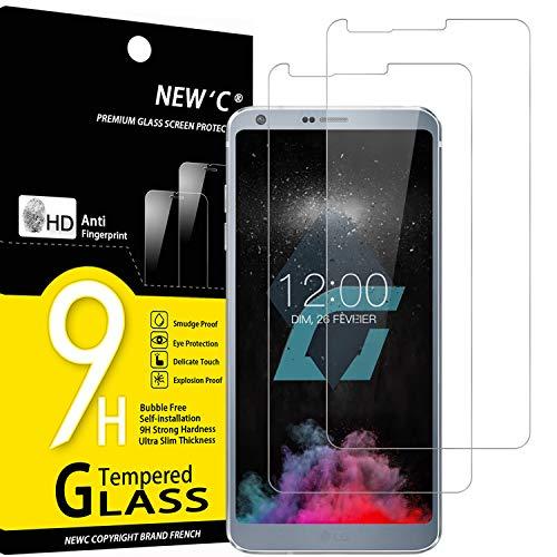 NEW'C 2 Pezzi, Vetro Temperato per LG G6, Pellicola Prottetiva Anti Graffio, Anti-Impronte, Senza Bolle, Durezza 9H, 0,33mm Ultra Trasparente, Ultra Resistente
