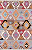Momeni Rugs Caravan Collection, 100% Wool Hand Woven Transitional Area Rug, 2' x 3', Multicolor