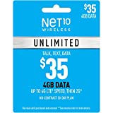 Net10 Wireless Unlimited 4GB Plan Refill Card (Mail Delivery)