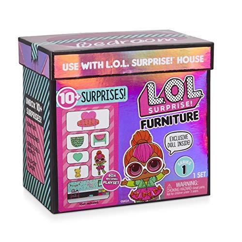 Image 4 - MGA- Meubles L.O.L Chambre à Coucher avec la poupée Neon Q.T. et 10+ Surprises Toy, 561743E7C, Multicolore
