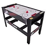 Triumph 4-in-1 Rotating Swivel Multigame Table – Air Hockey, Billiards, Table Tennis, and Launch Football , Black/White, 23.75 x 32.00 x 48.00'