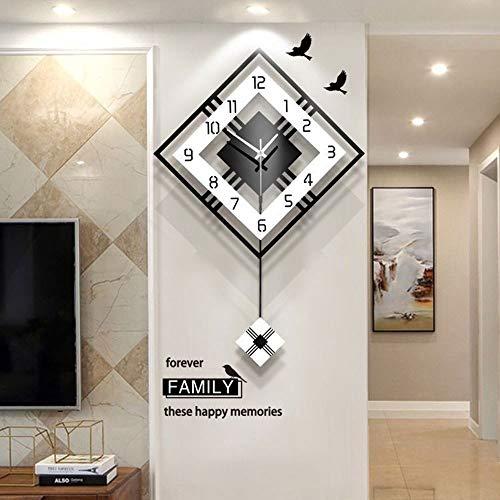 Nuanxin Elegante orologio da parete al quarzo con elegante orologio da parete minimalista, creativo...
