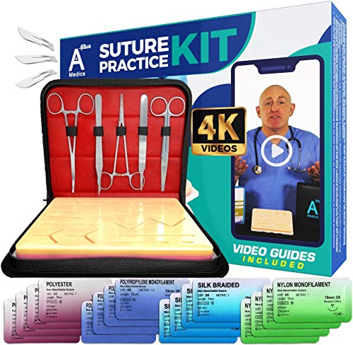 Complete Suture Practice Kit for Medical Students w/ How-To...