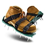 LASTOOLS Lawn Aerator Shoes Spiked Aerating Sandals Heavy Duty One-Size-Fits-All & Easy to Use Single Strap Design & Nonslip Gardening Shoes