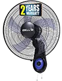 iBELL BLADE WF1980 Premium Wall Fan with 5 Leaf, Low Noise Motor,High Speed, Black