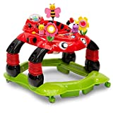 Delta Children Lil' Play Station 4-in-1 Activity Walker - Rocker, Activity Center, Bouncer, Walker - Adjustable Seat Height - Fun Toys for Baby,  Sadie the Ladybug
