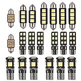 Justech 20pcs Kit d'Ampoules LED SMD sans Erreur Lot de 20 Can-bus Ensemble de...