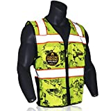 KwikSafety (Charlotte, NC) UNCLE WILLY'S WALL (XX-Large Yellow)| 10 Pockets Class 2 ANSI High Visibility Reflective Safety Vest Heavy Duty Mesh with Zipper HiVis for Construction Work HiViz Men