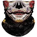 NTBOKW Skull Mask Half Face Mask Bandana for Sun Dust Wind Protection Mask for Riding Motorcycle Cycling Fishing Hunting Summer Seamless Bandana 3D Skeleton Tube Mask for Men Women (Girls Mask 0307)