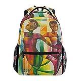 poiuytrew Pintura en Color de Mujeres africanas Mochila Bolsas de Hombro para Estudiantes Mochila de Viaje Mochilas Escolares