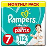 Pampers Baby-Dry Culotte à couches Taille 7 Économie mensuelle 112...