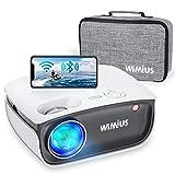 Proyector WiFi, WiMiUS 5800 Proyector de Video Portátil Proyector Soporta 1080P, 720P Proyector Nativo Cine en Casa 70,000 Horas Proyector Mini para Smartphone iPad/PC TV Stick HDMI VGA AV TF USB