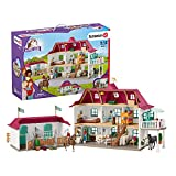Schleich Horse Club 70-Piece Lakeside Country Dollhouse and Horse Stable Playset for Kids Ages 5-12
