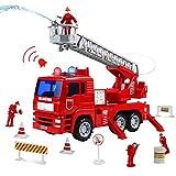 Camion Pompier Voiture Enfant Maquette Camion Pompier Rouge Jouet pour Enfant...