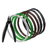 AIEX 1 mm 6 Rollos Bonsai Wire 196.8 Pies En Total para Bonsai Tree Training y Craft Making Nippers (Black, Brown, Silver, Green)
