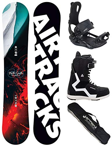 Airtracks Snowboard Set/Board North South Four Wide 157 + Attacchi Master + Boots Strong 45 + SB Bag