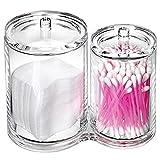 hblifeCoton-Pad Distributeur Acrylique Transparent Boîte de Rangement Maquillage...