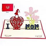 Deesospro® Carte de Fête des Mères, Carte d'anniversaire pour Maman, 3D Pop Up Carte de Voeux pour l'anniversaire de Maman, Enveloppe Incluse