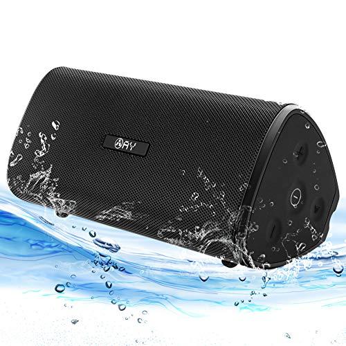 Altavoz 30W Portátil Bluetooth 5.0 AY, Impermeable IPX7 Altavozs Inalámbrico, Sonido estéreo HD Potentes conTWS & Micrófono, Resistente a Golpes, Autonomía de 24H para Camping,Viajes, Aire Libre.