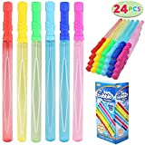 JOYIN 24 Pack 14 Big Bubble Wands Bulk (2 Dozen) for Summer Toy, Outdoor / Indoor Activity Use, Easter, Bubbles Party Favors Supplies for Kids