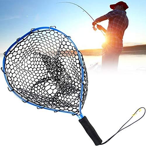 Fly Fishing Landing Trota Netto Pesce Guadino Catch and Release Net Reti Da Pesca in Lega Leggera Di Alluminio Ultra-gomma Dip Net