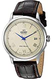 Orient Men's 2nd Gen. Bambino Ver. 2 Stainless Steel Japanese-Automatic Watch with Leather Strap, Brown, 21 (Model: FAC00009N0)