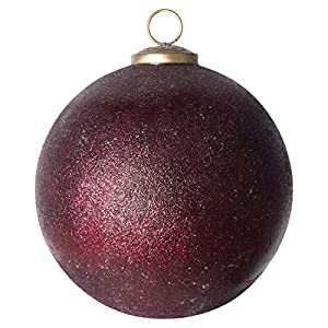 "Add to this year's tree for an extra special touch Include in a tabletop decoration for extra flare Hang on the handle of a cabinet 4. 75""L x 4. 75""W x 4. 75""H"