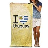 Amo la Bandera de Perú 100% poliéster Adultos Toallas de Playa Toalla de baño Unisex