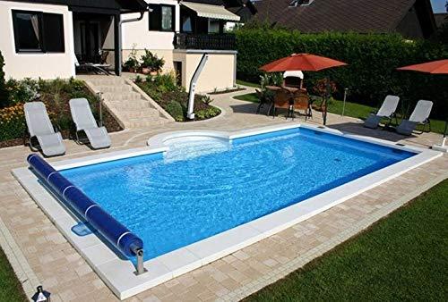 Summer Fun Styropor Schwimmbecken Set rechteckig inkl. Sandfilteranlage Lissabon Luxus 600 x 300 x 150 cm Tiefbeckenleiter