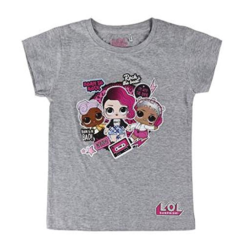 L.O.L. Surprise ! Camiseta para niñas con Las muñecas LOL Rocker, BFF Fancy & Fresh, Diva, M.C Swag, IT Baby, Leading Baby   Top de Verano de algodón para niños (7/8 años, Born to Rock)