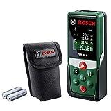 Télémètre Laser Connecté Bosch - PLR 30 C (Portée 30m, livré avec piles et housse de protection, Connexion Bluetooth)