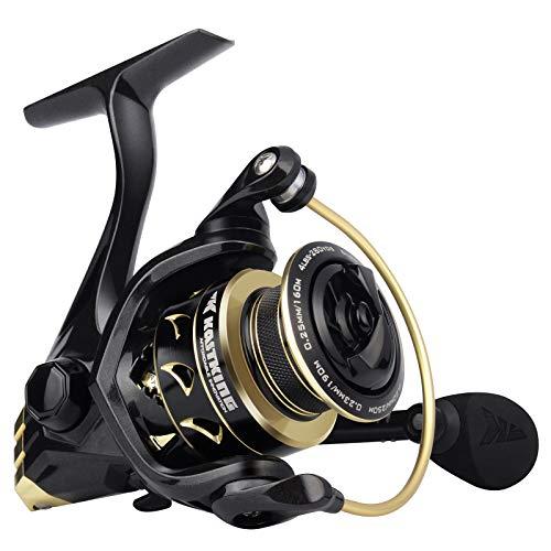 KastKing Valiant Eagle Spinning Reels, Black Gold Fishing Reel, Size 3000