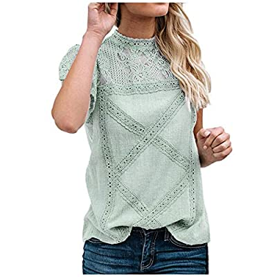Material: Cotton & Polyester, Lightweight, ultra soft and stretch fabric, Women shirts are very comfortable to wear, High quality fabric making it more comfy against the skin. Feature: Summer tunic tops shirts for women, short sleeve t shirts , women...
