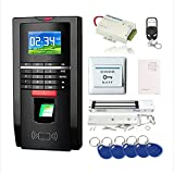 Complete Biometric Kits Fingerprint RFID Access Control System 600Lbs Magnetic Lock TCP/IP Time Attandance