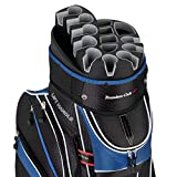 Founders Club Premium Cart Bag with 14 Way Organizer Divider Top (Blue and Black)