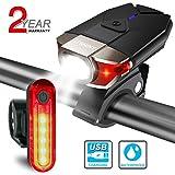 ITSHINY Ensemble d'éclairage de vélo, Kit lumière de vélo USB...