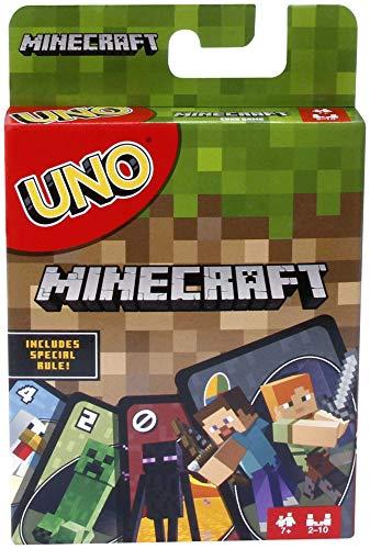 Mattel Games UNO Minecraft Card Game, Now UNO fun includes...