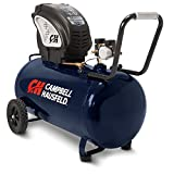 Air Compressor, Portable, Horizontal, 20 Gallon, Oil-Free, 4 CFM @ 90 PSI, 150 PSI (Campbell Hausfeld DC200000),Blue