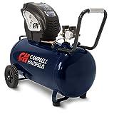 Air Compressor, Portable, Horizontal, 20 Gallon, Oil-Free, 4 CFM @ 90 PSI, 150 PSI (Campbell Hausfeld  DC200000),Blue
