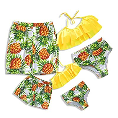 ⇒ Design - Two piece swimsuits for women and girls, high waist design, comfortable liner mesh and soft padded Bra, retro swimwear to show you a most gorgeous woman in the world, sexy, attractive and charming. ⇒ Material - Bathing suits made of high q...