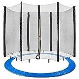 Arebos Coussin de protection pour trampoline + filet / 244, 305, 366, 396, 430,...