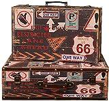 LHSUNTA Cajas de Almacenamiento de Madera Juego de Cajas Decorativas 2 Piezas Caja Decorativa Joyas Retro clásicas Baratijas de Almacenamiento Cofres Caja de Madera Decorativa (Color: CAFÉ
