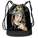 PmseK Mochila con Cordón,Bolsas de Gimnasia, Xanarchy Drawstring Bag Travel Gym Sports Rucksack Portable Sackpack
