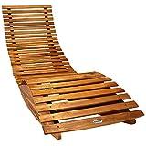 Deuba Schwungliege FSC®-zertifiziertes Akazienholz Ergonomisch Wippfunktion Gartenliege Sonnenliege Relaxliege Saunaliege - 6
