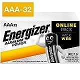 Energizer Piles AAA, Alkaline Power, Lot de 32