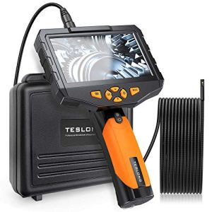 Teslong Dual Lens Inspection Camera with 4.5 inch Screen, Endoscope Camera...
